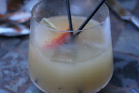 Peach sangria at Aragosta, Boston, Mass.