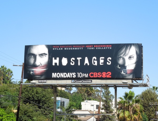 Hostages series premiere billboard