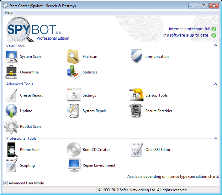 Spybot Search & Destroy 2.4 - Free Download | SOFTWARE LOVERS