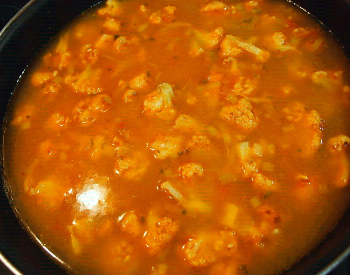 Arroz con bacalao y coliflor la cocina de la abuela - Arroz con bacalao desmigado ...