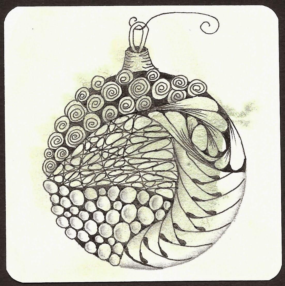 thehappytangler: Four More Christmas Ornament Zentangles