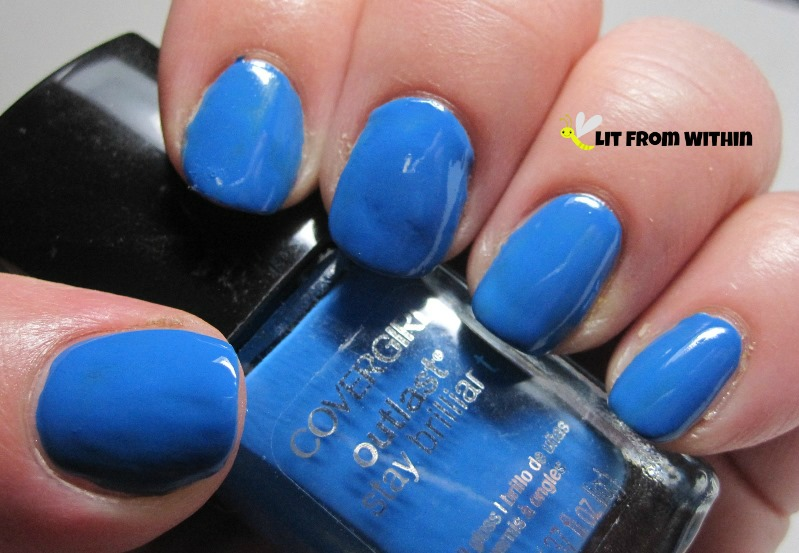 CoverGirl Out Of The Blue, a nice, bright, opaque blue