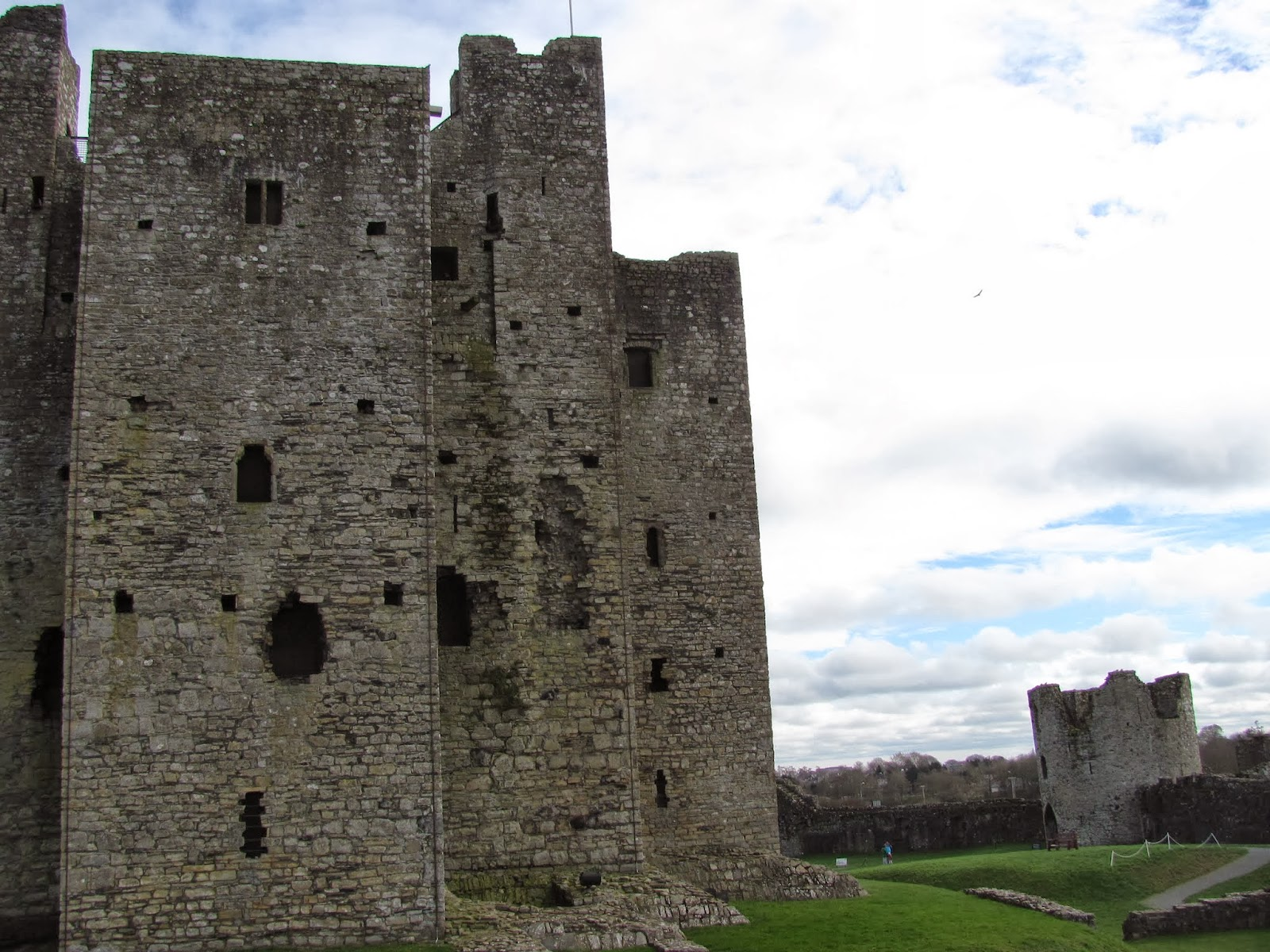Angled Batter Walls at Trim Castle, Trim, Ireland
