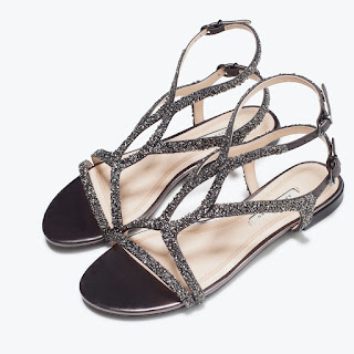 Zara Crossover Shiny Sandals