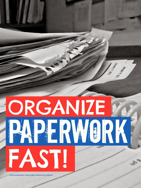 How To Organize Paperwork @ Mums Make Lists