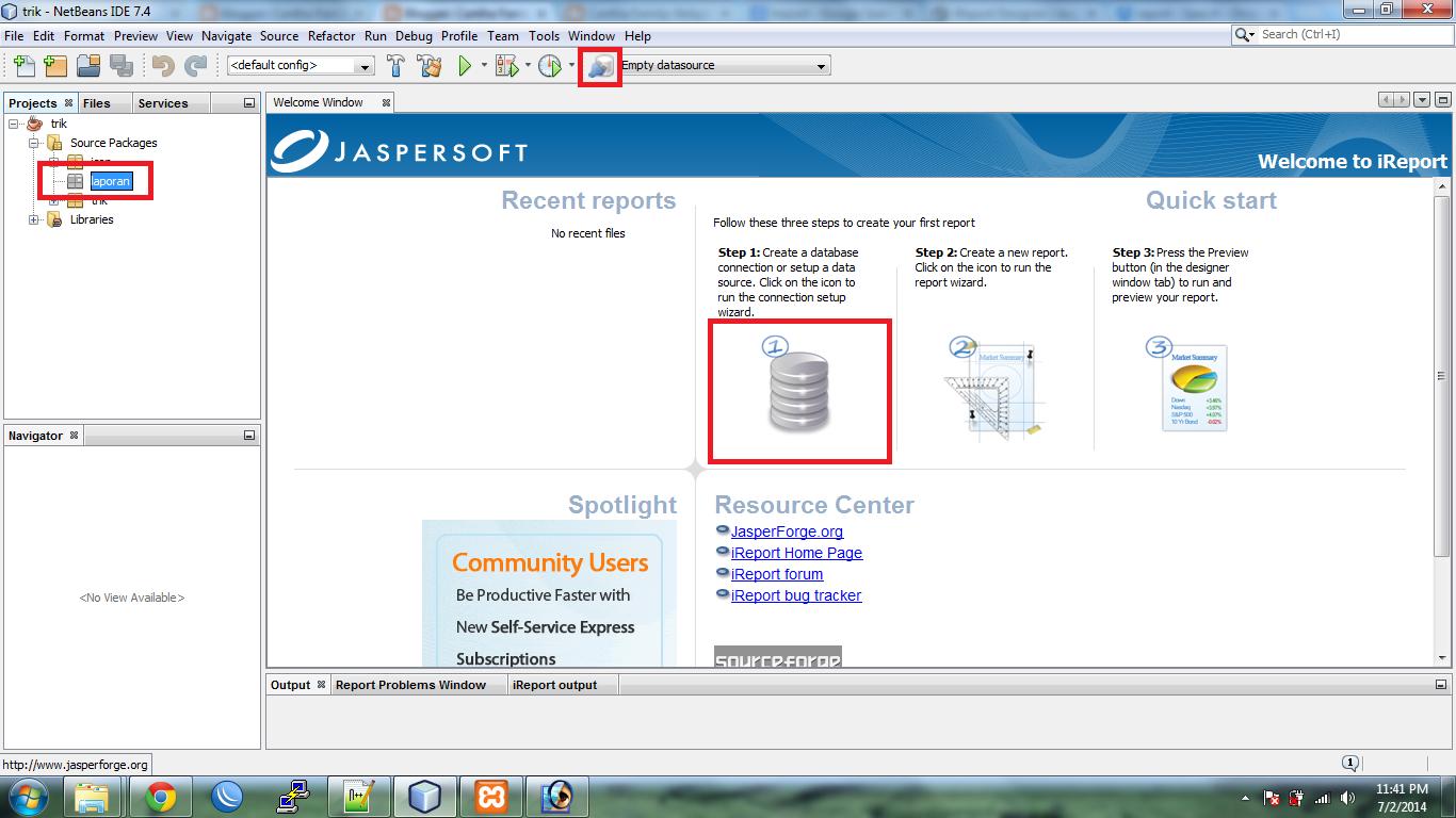 Membuat dan Menampilkan Laporan dengan iReport di Java