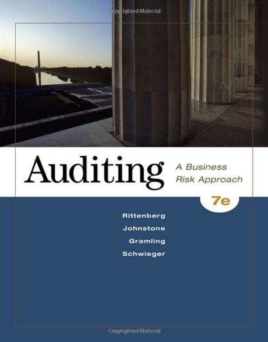 auditing a business approach chapter 9 solutions Tenth edition auditing & assurance services , systematic approach william f messier, jr  auditing business processes 337 chapter 10 auditing the revenue process 338.