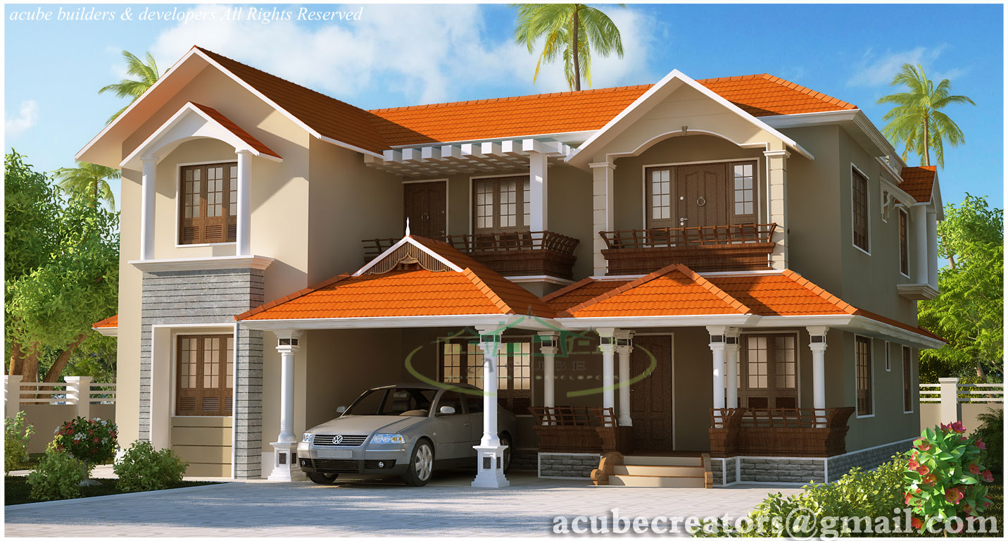 Kerala style dream home elevations 2980 sq ft plan 135 for Dream home kerala