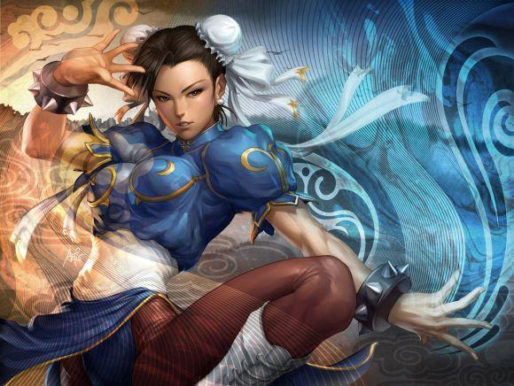 Stanley Lau artgerm deviantart ilustrações mulheres sensuais games quadrinhos Chun-li
