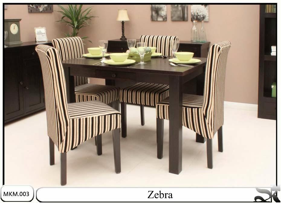 Set meja makan minimalis zebra