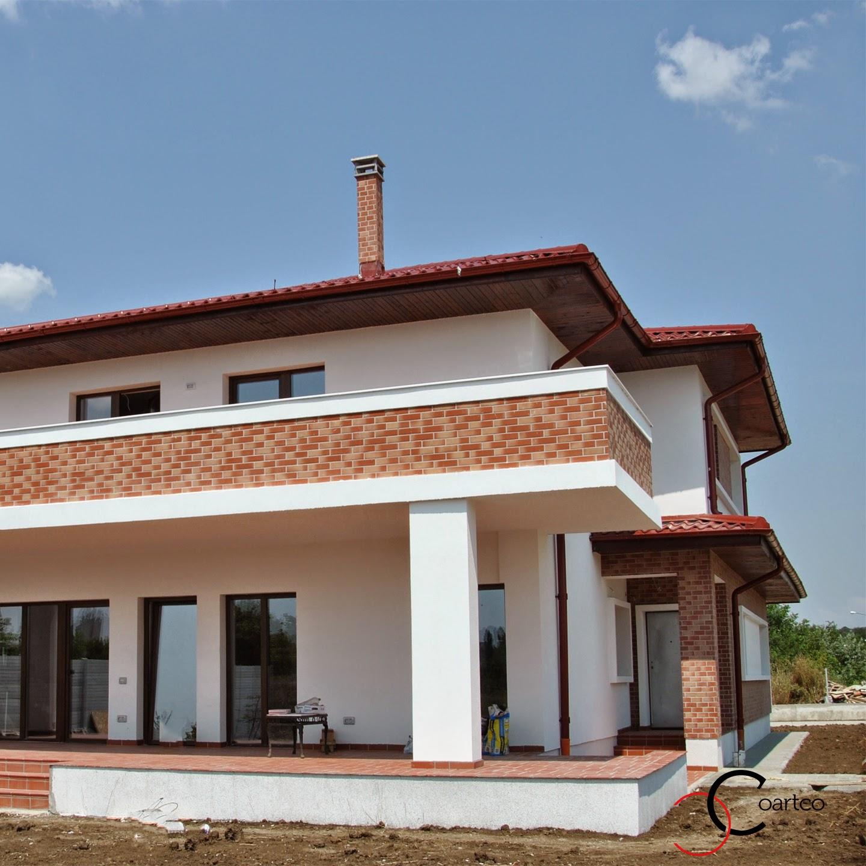profile decorative, fatada casa cu caramida aparenta