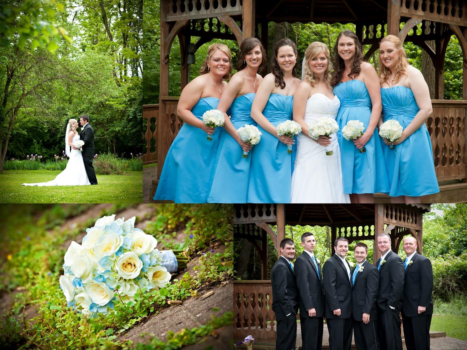 Mokara Fl Design Baby Blue And Natural White Wedding