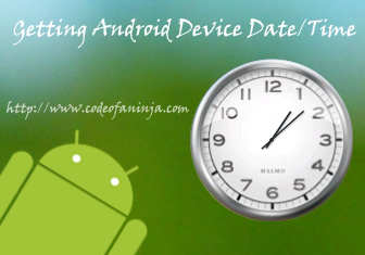 Android Get Current Date and Time
