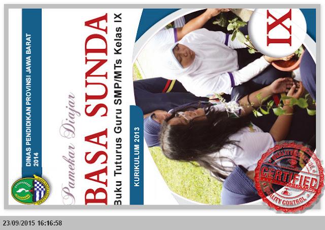 BUKU PETUNJUK GURU BAHASA SUNDA SMP KELAS 9