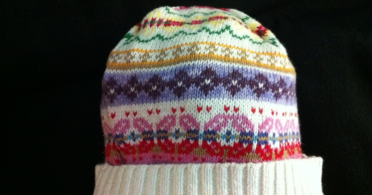 how to make a hat from old sweater