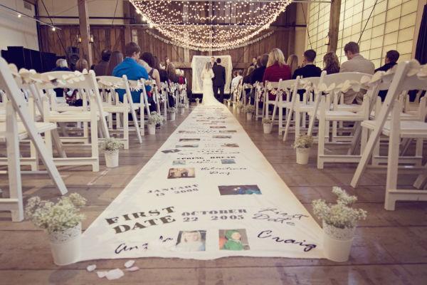 pasillo boda personalizado