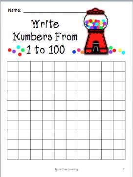 100th Day Gum Ball Chart
