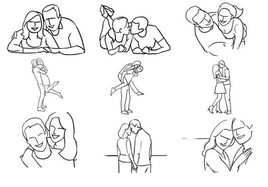 примеры поз для фотосессий для влюбленных пар