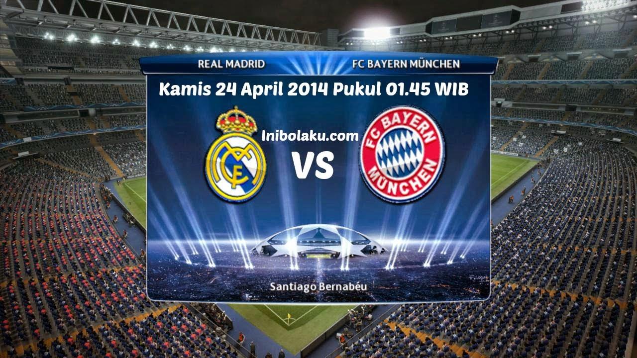 Prediksi Skor Pertandingan Real Madrid Vs Bayern Munchen Kamis 24 April 2014