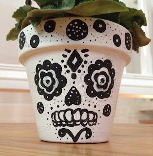 Sugar Skull Flower Potts