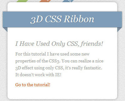 Cara Membuat Effect Ribbon dengan CSS