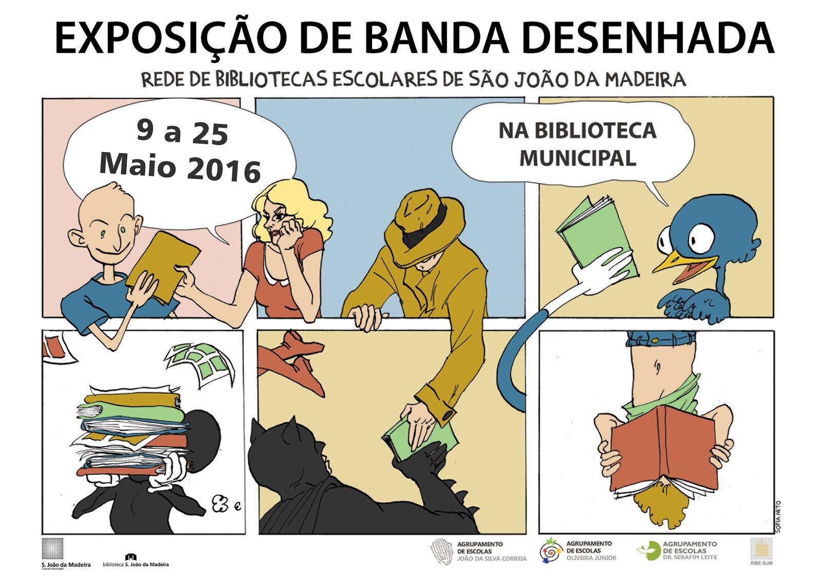 """Exposição """"Narrativas Gráficas (BD)"""" da Rede de Bibliotecas Escolares"""