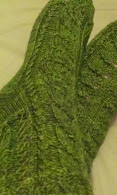 My Lothlorien Socks (Birchleaf socks by designer Nancy Bush)