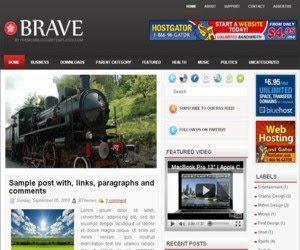 Brave Blogger Template