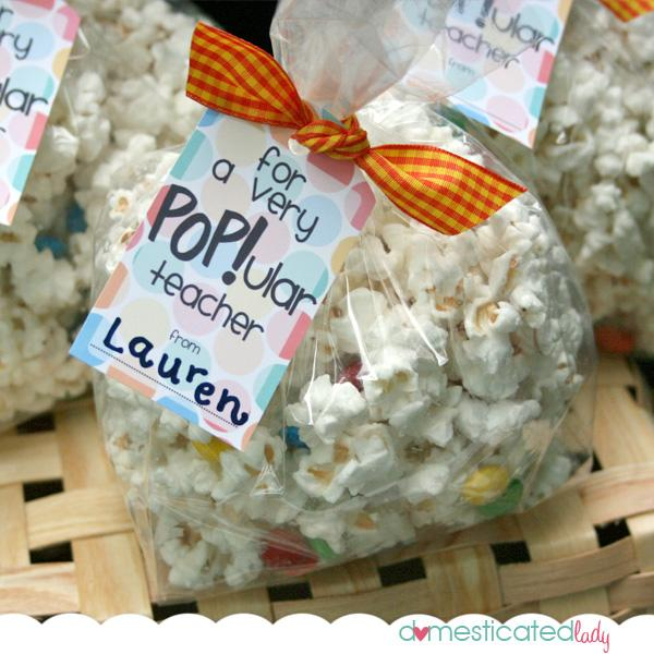 Speaking of bags of popcorn! Here's a tag you could use for a larger ...