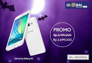 Harga Samsung A3 Rp 2.699.000 di Global Teleshop