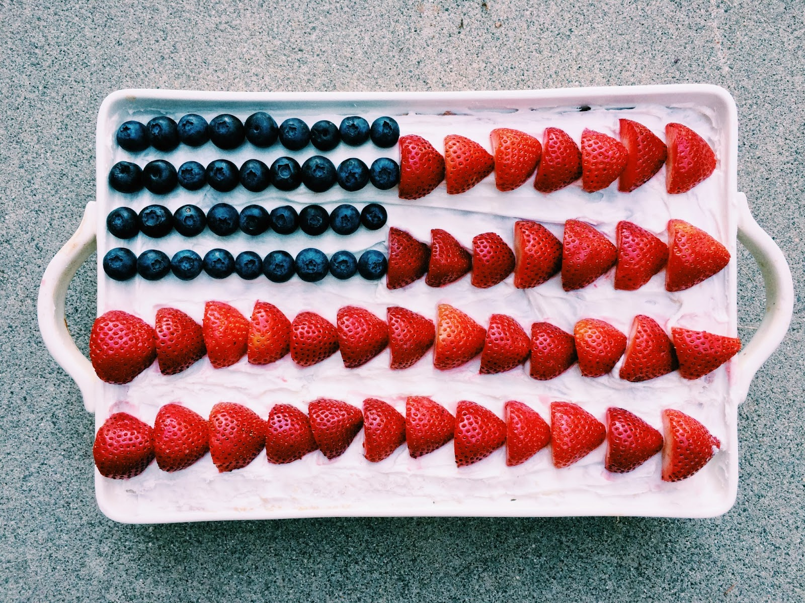 willivia: COCONUT ALL-AMERICAN FLAG CAKE