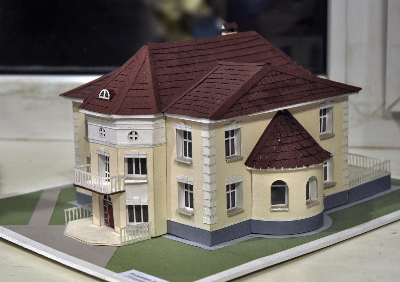 Как сделать для макета дома крышу