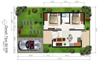 Desain Rumah Minimalis untuk Type 36 2 Lantai