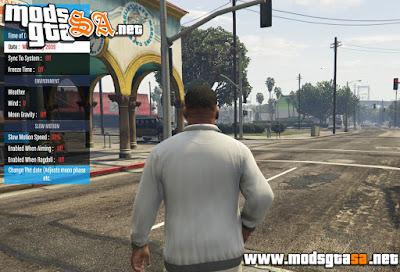 V - Mod QF Menu para GTA V PC