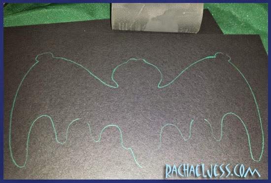 Bat stencil for Halloween Craft