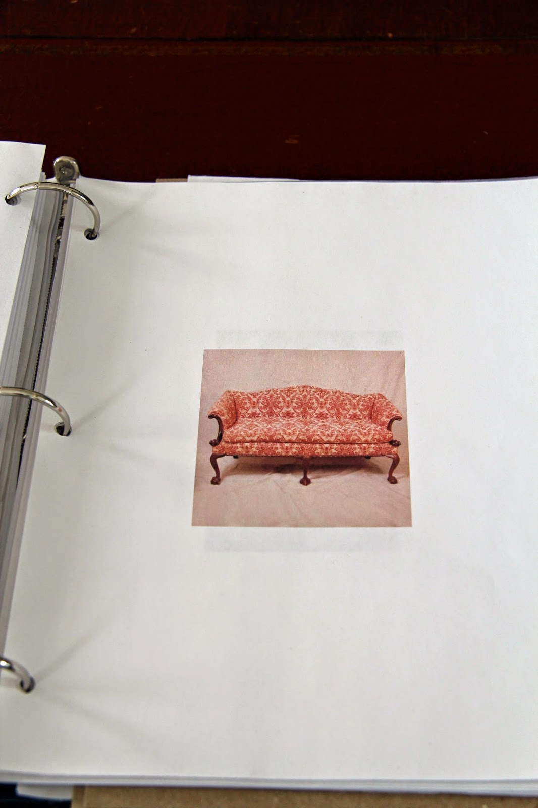 In the fields renovation and the three ring binder i also feel as if placing an inspiration photo in my three ring binder like this damask covered chippendale sofa will compel me to be brave and wiggle malvernweather Image collections