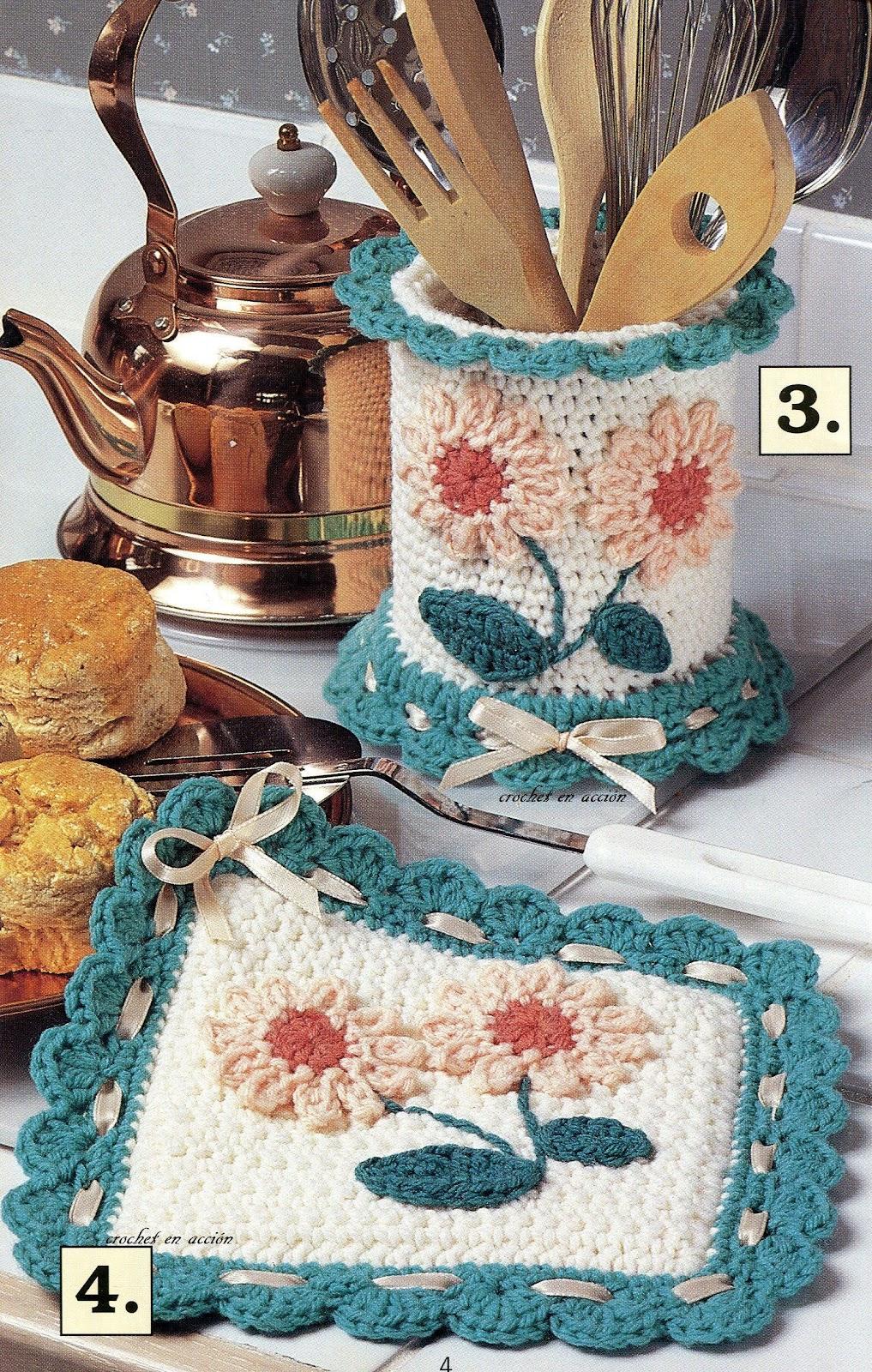 Картинки вязание крючком на кухню 97