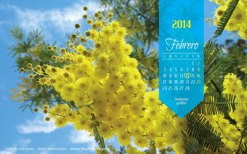 Calendario Febrero Fondo de escritorio