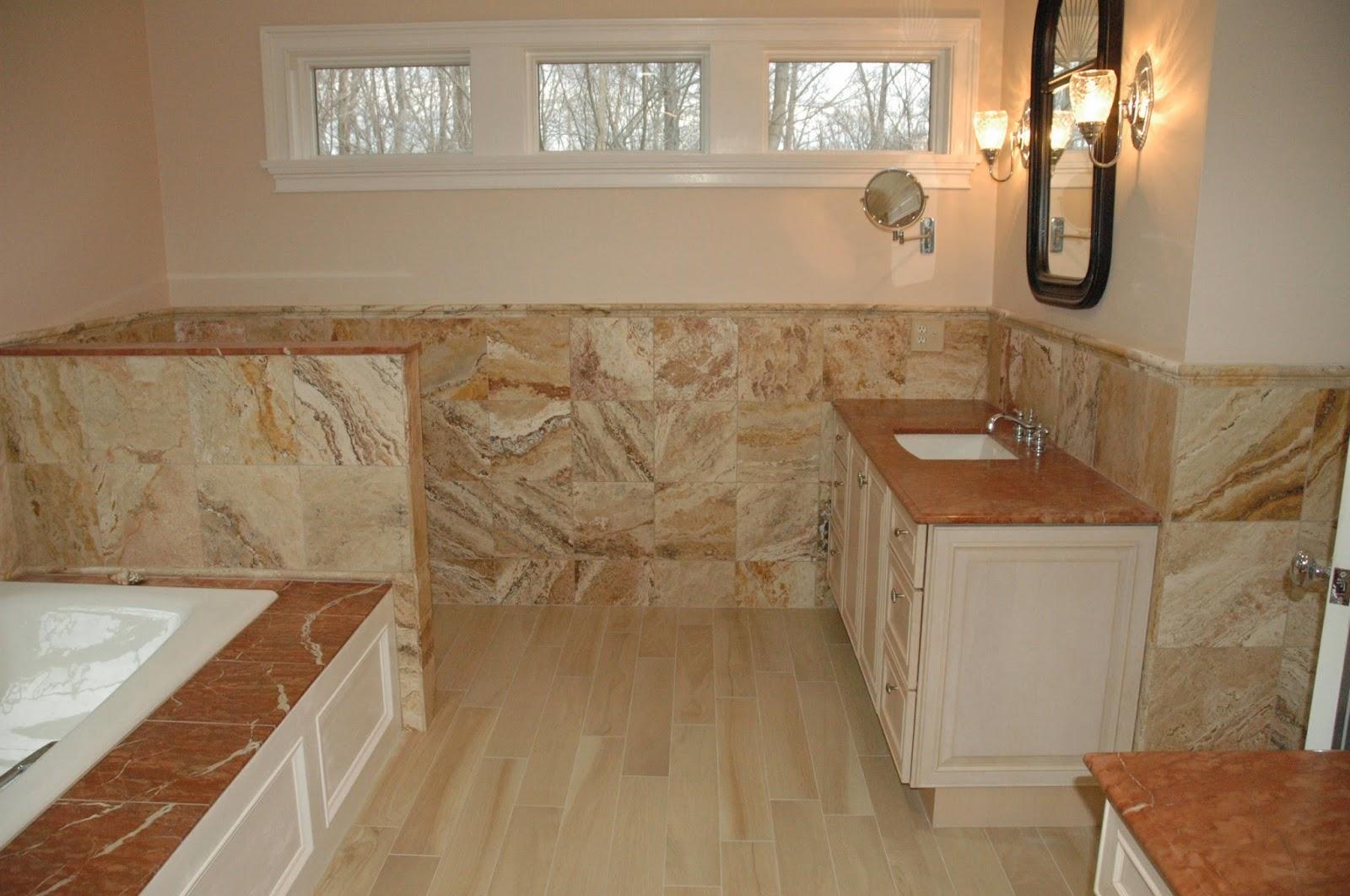 Custom bathroom remodeling 12x12 travertinetile for Bathroom designs 12x12