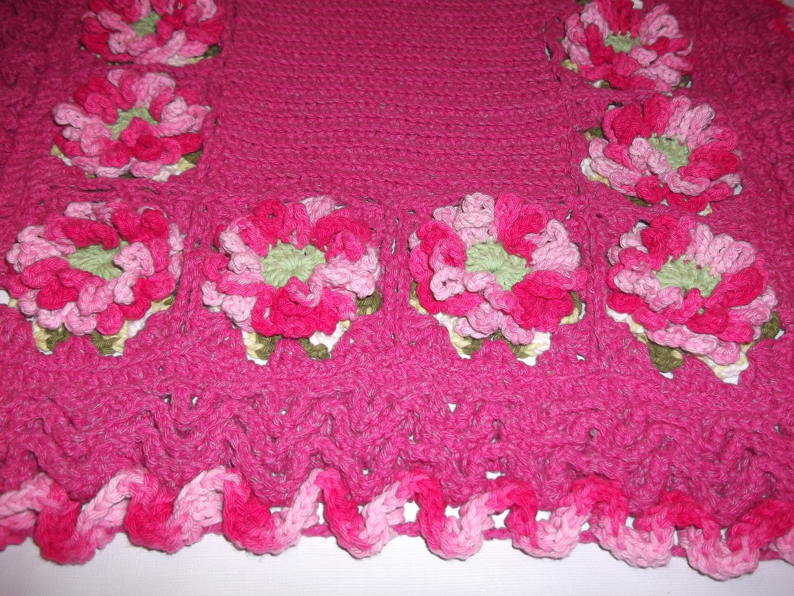 Elis camilo croche tapete pink com flores for Tapete pink