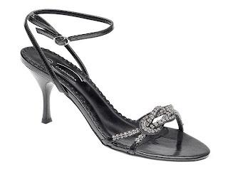 Sandálias femininas de festa na cor preta