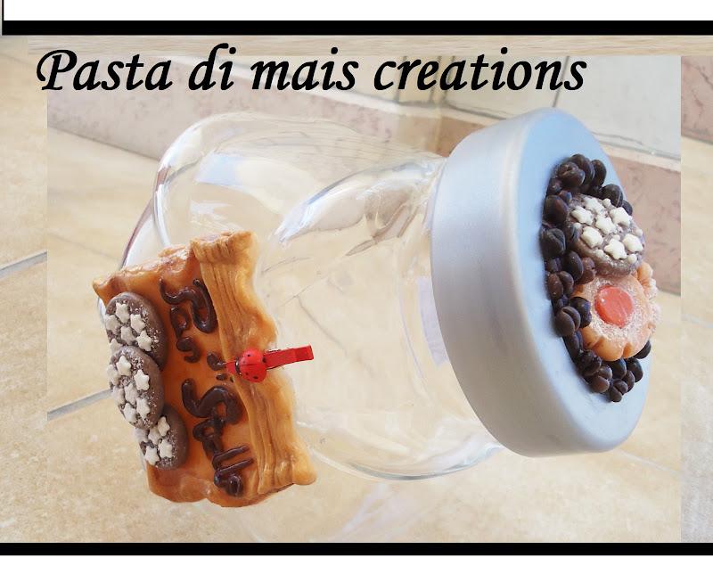 ... di mais Creations : Barattolo portabiscotti Pan di stelle in pasta di
