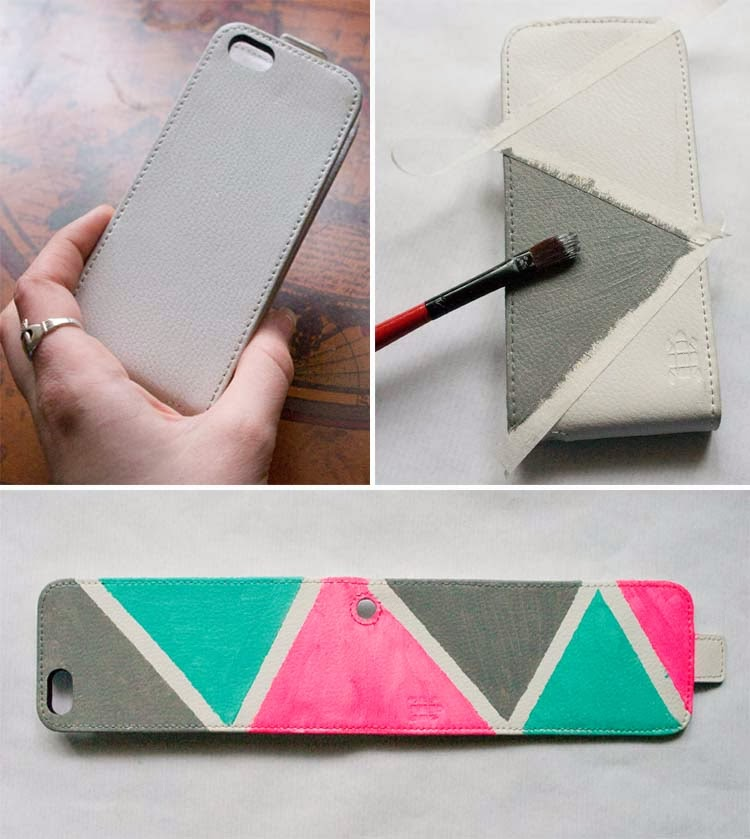 pointless pretty things diy painted leather phone case