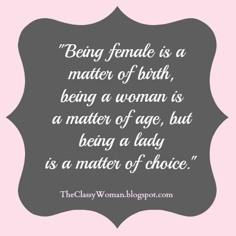 Being a women