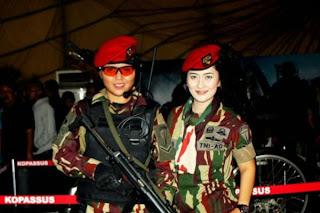 Hiburan : TNI Cantik dari Korp Wanita Tentara Nasional Indonesia ...