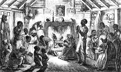 Prayer Meeting in Uncle Tom's Cabin Image