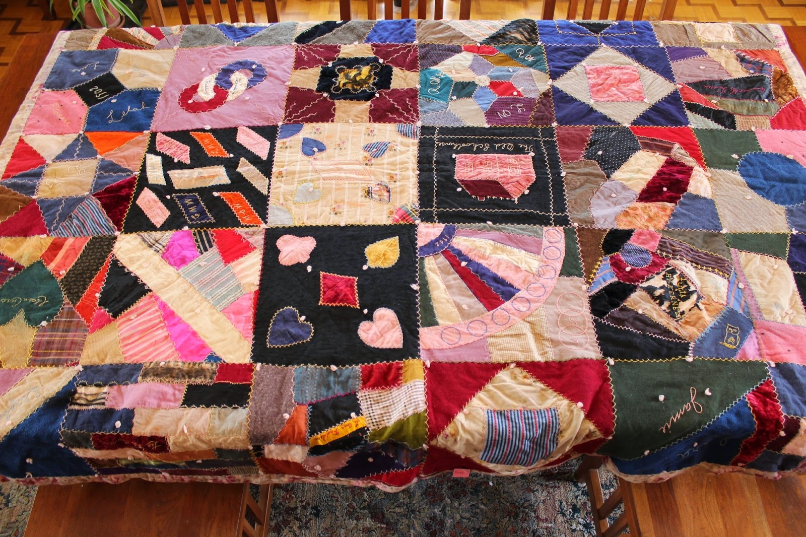 Ohio Thoughts~: Look What I Found: Antique Handmade Quilt : quilt tacking - Adamdwight.com