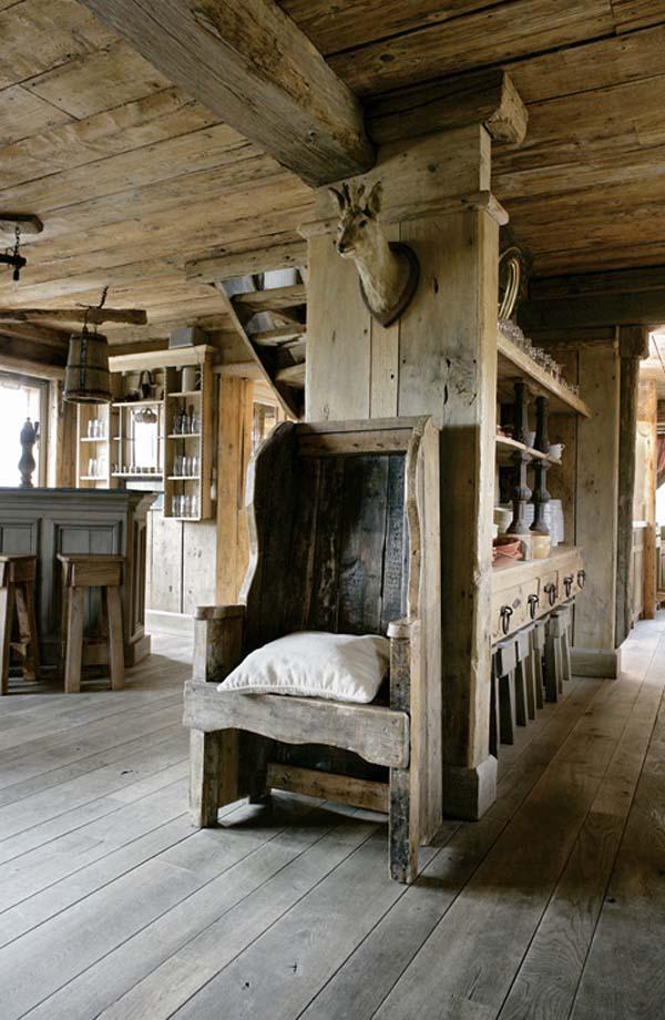 sillon rustico estilo medieval