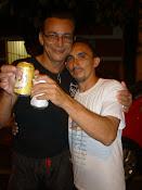 C. Mestre Pintado e seu 1º Professor de capoeira Professor Alemão