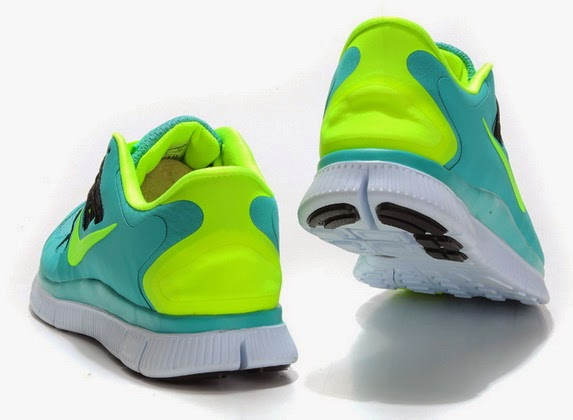 Wholesale Nike Free 50  Mens Blue Fluorescence Green Running